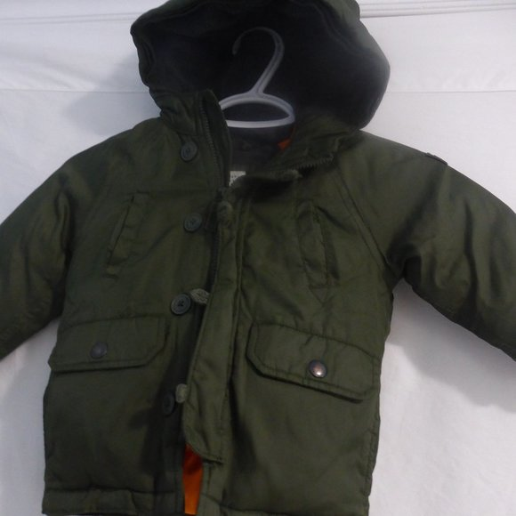 BABY GAP jacket hooded jacket with fleece lining